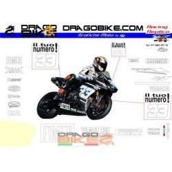 Motorbike Stickers Replica Yamaha SBK 2010 Test