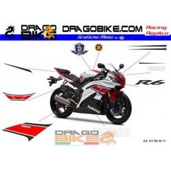 Stickers Kit Yamaha R6 WGP 50 Anniversary