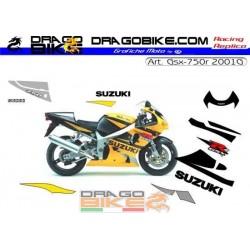 Suzuki GSX-R 750 2001 желтый