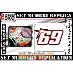 Numero Gara 69 Nicky Hayden...