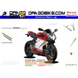 Motorbike Stickers Kit Ducati 1199 Panigale  Tricolore 2012