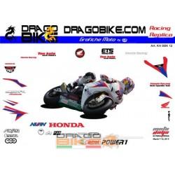 Adhesivos Moto Honda SBK 2012