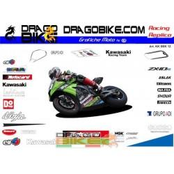 Kit Adesivi Moto Kawasaki...