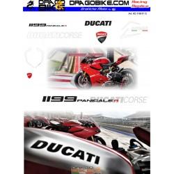 Motorbike Stickers Kit Ducati 1199 R Panigale