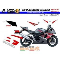 Stickers Kit Suzuki GSX-R 750 2004 Red/Black