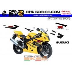 Stickers Kit Suzuki GSX-R 600 K4 2004 g