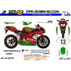 Stickers Kit For Moto Ducati.