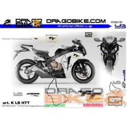 Набор Наклеек Moto Honda TT