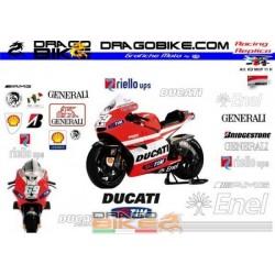 Kit Adesivo Moto Ducati MotoGP 2011 N