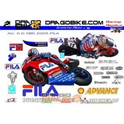 Stickers Kit Ducati Sbk Fila 2003
