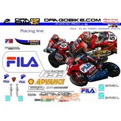 Motorbike Stickers Kit Ducati SBK FILA 2004
