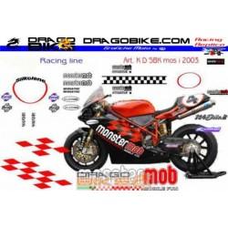 Sticker Kit Ducati 998 SBK inglese 2003 Monstermob