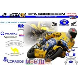 Набор Наклеек Honda MotoGP Camel Pons team 2003
