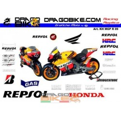 Motorbike Stickers Kit Honda MotoGP REPSOL 2009