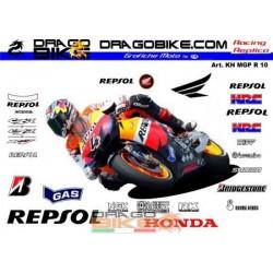 Набор Наклеек Honda MotoGP...