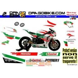 Kit Adesivo Moto Honda SBK 2011 Castrol Pro