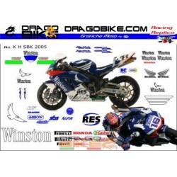 Kit Adhesivo Honda SBK...