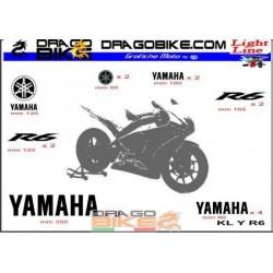 Sticker Kit  Light for Yamaha R6
