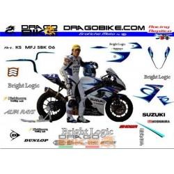 Stickers Kit Suzuki MFJ SBK...