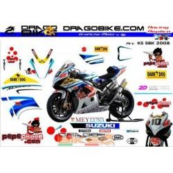 Stickers Kit Suzuki SBK 2008