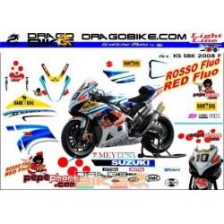 Stickers Kit Suzuki SBK 2008 F