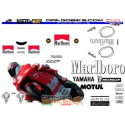Motorcycles Stickers kit Yamaha Marlboro 2001