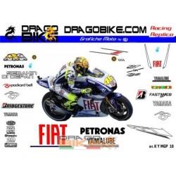 Motorbike Stickers Replica Yamaha MotoGP 2010 Fiat Team