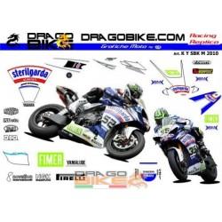 Motorbike Stickers Replica Sterilgarda Yamaha SBK M 2010