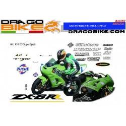 Kit Adhesivo Moto Kawasaki...