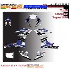 TOTAL STICKERS KAWASAKI ZX6R B