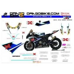 Motorbike Stickers Kit Suzuki SBK 2009