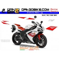 Kit Yamaha R1 2008 White/Red