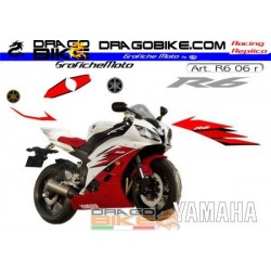 Kit Yamaha R6 2006 Blanco/Roja