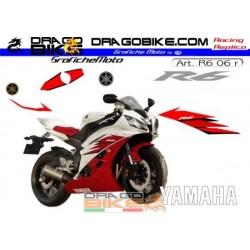 Stickers kit Yamaha R6 2006