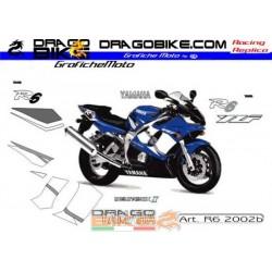 Stickers kit Yamaha R6 2002 b
