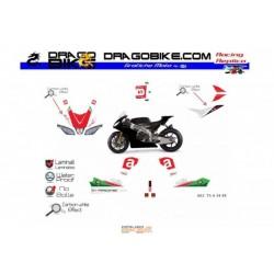 Stickers Kit Aprilia Total TS  54  (Black)