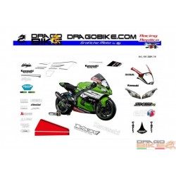 Race stickers kit Kawasaki SBK 2014 Tom Sykes